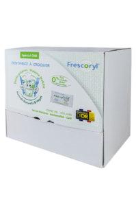 Frescoryl és un dentifrici masticable fet d'ingredients naturals